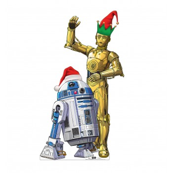 R2-D2 and C3PO Holiday Outdoor Standee - $59.95