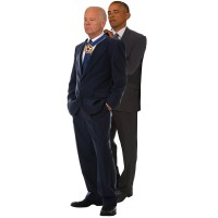 Joe Biden and Barack Obama Medal of Freedom Cardboard Cutout - $0.00