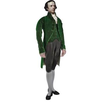 Isaac Barre Founder of Wilkes-Barre Cardboard Cutout