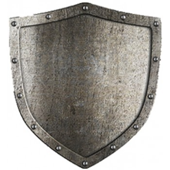 Aged Metal Shield Cardboard Cutout - $49.99