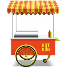 Hot Dog Stand Cardboard Cutout