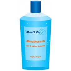 Mouth Wash Cardboard Cutout