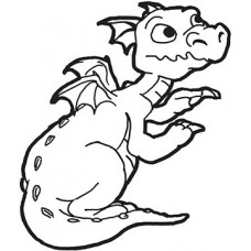 Dragon Cardboard Coloring Cutout
