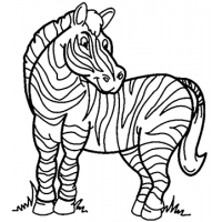 Zebra Stripes Cardboard Coloring Cutout - $14.99