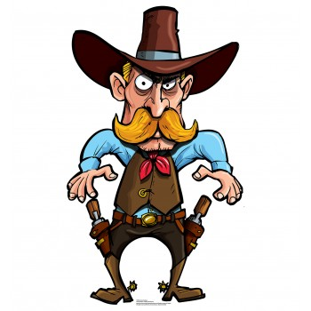 Cartoon Cowboy Cardboard Cutout