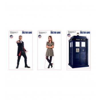 Doctor Who 8 Mini  Pack. The Doctor, Clara and TARDIS Cardboard Cutout