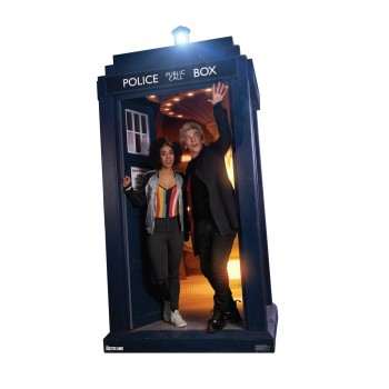 The Doctor and Bill Potts in the TARDIS (Doctor Who 10) Cardboard Cutout - $39.95