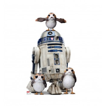 Porgs with R2-D2 Cardboard Cutout - $39.95