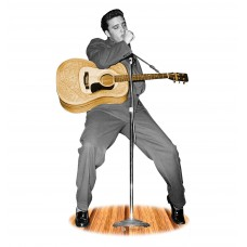 Elvis Presley - B&W w/Guitar -TALKING
