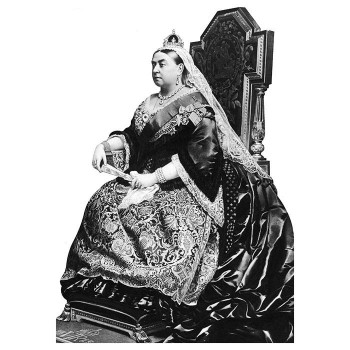 Queen Victoria Chair Cardboard Cutout - $0.00