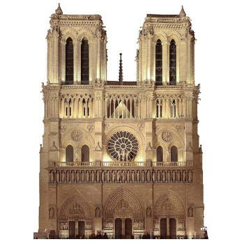 Notre Dame Cathedral Cardboard Cutout - $0.00