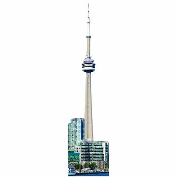 CN Tower Cardboard Cutout