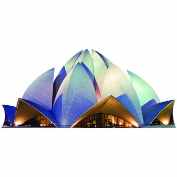 Bahai Lotus Temple Night Cardboard Cutout