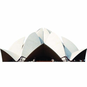 Bahai Lotus Temple Day Cardboard Cutout