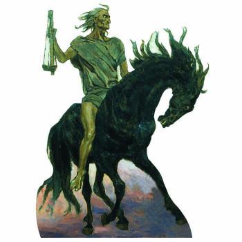 Four Horsemen Black Famine Cardboard Cutout
