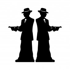 Gangster Silhouette Double Pack