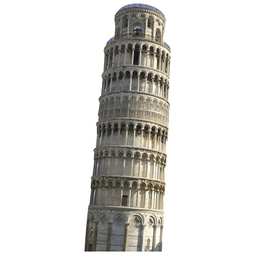 Leaning Tower of Pisa Cardboard Cutout