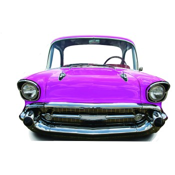 Pink Car Small Stand In Cardboard Cutout - $44.95