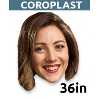 "36"" Personalized Coroplast Big Head - $34.99"